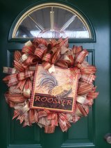 Rooster Mesh Wreath in Naperville, Illinois