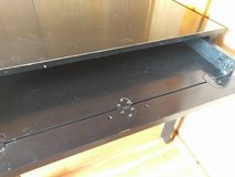 Small Black Desk with Keyboard Drawer and Chair in Okinawa, Japan