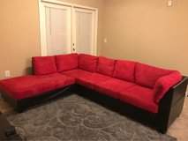 *Big Moving Sale* Red and Black Sectional in Warner Robins, Georgia