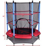 """55"""" Kids Jumping Trampoline with Safety Pad Enclosure Combo in Chicago, Illinois"""