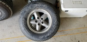 jeep tire and wheel in Okinawa, Japan