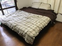 Almost brand new - King Size Mattress & Box Spring in Okinawa, Japan