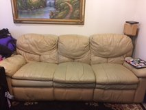 leather recliner couch; please read in Okinawa, Japan
