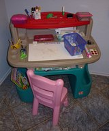 Step 2 Art Master Deluxe Desk with Little Tikes Chair in Kingwood, Texas