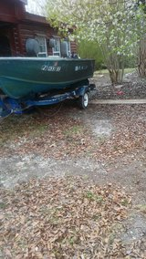 14 ft boat and trailer today in Camp Lejeune, North Carolina