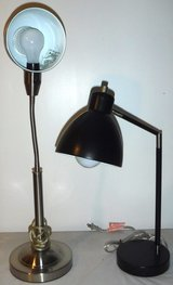 Stainless Goose Neck -OR- Black Metal Desk Lamp in Joliet, Illinois