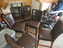 Tall Leather chairs for gathering table in Fort Leonard Wood, Missouri