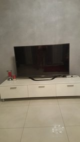 TV cupboard.white painted in Ramstein, Germany