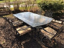 : ) Large Metal Patio Furniture Set >>> Includes Cushions in St. Charles, Illinois