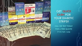 Help Others And Get Paid For Your Diabetic Test Strips$$$ in Buckley AFB, Colorado