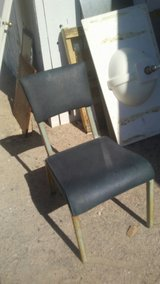 4. solid padded metal chairs in 29 Palms, California