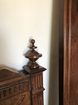 Antique Hardwood Bed Frame in Yucca Valley, California