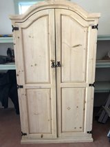 Curve Top Armoire, Solid Pine, Raised Panels in Yucca Valley, California