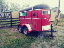 red trailer in Fort Campbell, Kentucky