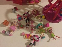 Lalaloopsy great lot house/carouzel with lots of accessories and mini dolls in Naperville, Illinois
