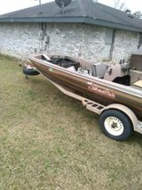 16 ft bass boat with  trailer & a parts boat with trailer and extra motor in DeRidder, Louisiana