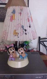 MICKEY & MINNIE MOUSE LAMP W/ NIGHTLIGHT /COLLECTOR'S /EXC. COND.... in Camp Lejeune, North Carolina