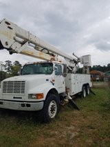 2001 International 4700 DT408 Double Bucket Truck in Conroe, Texas