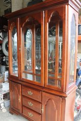 Cherry Wood China Cabinet in Wilmington, North Carolina