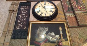 Architectural Pieces, needlepoint framed, clock, wall art - ALL BUNDLED in one price in Kingwood, Texas
