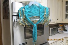 "Costume Accessory -- Womens Sheer Shoulder Cape ""Beaded"" With Gold Coins in Kingwood, Texas"