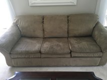 Suede microfiber couch in Aurora, Illinois