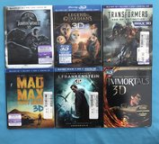 *3D* Blu-Ray 3D + Blu-Ray + DVD + Digital ~ MOVIES ~ $12 EACH in Fort Campbell, Kentucky