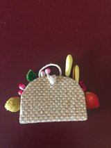 Vintage Barbie Straw Purse with Fruit - Excellent Condition! in Glendale Heights, Illinois