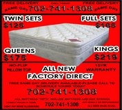 MATTRESS/BOX SETS with warranty FREE DELIVERY -, starting at 95,-- (702 - 741 - 1308) in Nellis AFB, Nevada