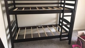 wooden bunk bed in Fort Carson, Colorado