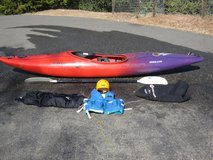 Perception Overflow Corsica Whitewater Kayak w/Accessories in Fairfield, California