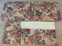 CROSCILL COTSWOLD ROSE FLORAL QUEEN COMFORTER 4 PC SET *EXCELLENT in Tinley Park, Illinois