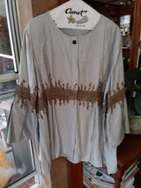 Jacket, silk beaded and pleated in Alamogordo, New Mexico