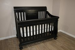 Black Baby Crib with Mattress in Tomball, Texas