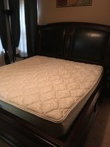 High Quality Solid Wood King size bed frame and headboard in Sugar Grove, Illinois