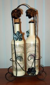 Decorative wine bottles and holder in Naperville, Illinois
