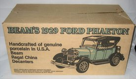 "JIM BEAM 1929 Ford Model ""A"" Phaeton Porcelain Decanter - Green - MIB in Aurora, Illinois"