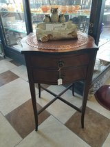 Mahogany Side Table with 2 Drawers in Fort Leonard Wood, Missouri