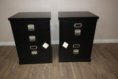 Pottery Barn Black Filling Cabinets (2) in CyFair, Texas