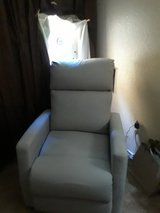 Streamlined dove gray recliner- still has tags in Nellis AFB, Nevada