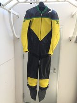 leather racing motorcycle suit, custom fit for tall thin rider in Okinawa, Japan