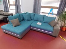 Nikki II Sectional with Bed + LED + Sound System. Special Sale! in Spangdahlem, Germany
