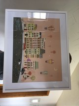 Paris Street Art Print with Hot Air Balloons! in Ramstein, Germany