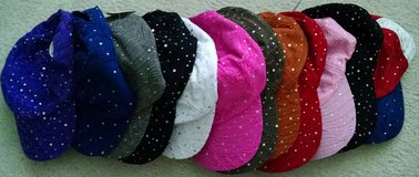 NEW Womens Girls SUMMER HATS ~ Stylish Sequin Baseball Caps ~ one size adjustable for all in Schaumburg, Illinois