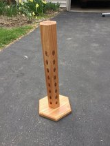 wood display stand in Wheaton, Illinois
