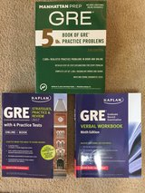 GRE Practice Books- Set of 3 in Fort Campbell, Kentucky