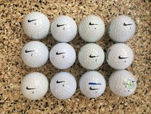 Dozen used Nike golf balls in Oceanside, California