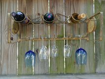 Shabby Wine and Glass Rack in Kingwood, Texas
