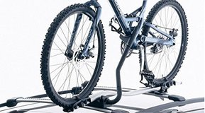 2 Volvo Upright Bicycle Carriers for Profile Load Bars in Ramstein, Germany