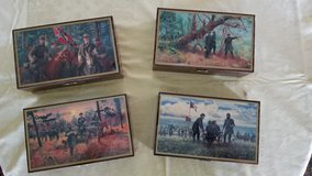 Set of 4 Civil war valet box collection by Mort Kunstler in Quantico, Virginia